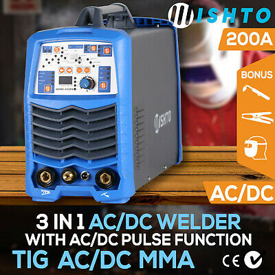 3 in 1 AC/DC TIG MMA 200A Inverter Welder with Pulse Function Suitable Aluminum