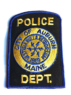 Maine Police Patch City Of Auburn Police Department