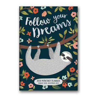 2019 Follow Your Dreams Sloth Planner, Weird | Interesting by Orange Circle Stud