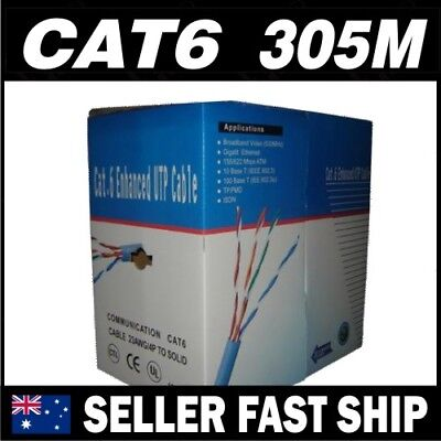 305m Premium Cat6 RJ45 UTP LAN Network Cable Roll Box 10/100/1000m FREE SHIPPING