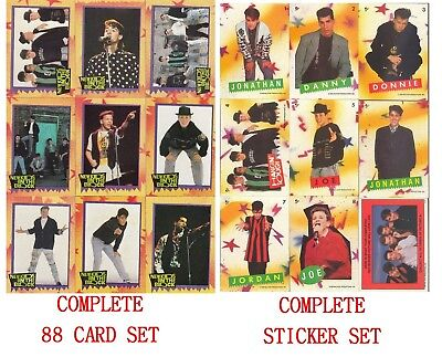 1989 Topps New Kids On The Block 88 Card and Sticker Complete Set