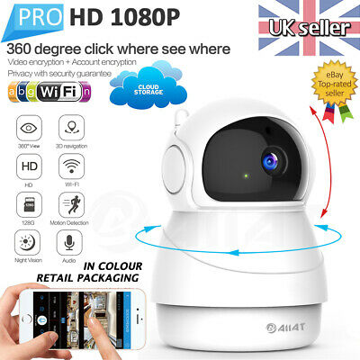 AIIAT 1080P HD Wireless PTZ Smart IP Cam WiFi Baby Monitor Security Camera CCTV