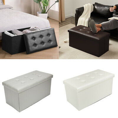 Living Room Rest Stool Folding Storage Ottoman Seat Stool Box Bench