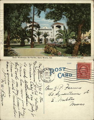 1926 Santa Monica,CA Hotel Windermere By-The-Sea Kropp Los Angeles County