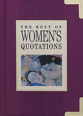 """""""AS NEW"""" Best of Women's Quotations (In Quotations), , Book"""