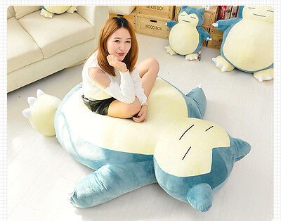 """Pokemon Go カビゴン Snorlax Plush Filled Bed only Cover with zipper 31"""" 39"""" 59"""" 79"""""""