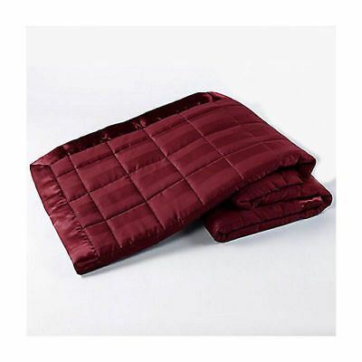 Ron Chereskin Woven Quilted & Striped Blanket In Cabernet - Twin