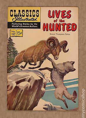 Classics Illustrated 157 Lives of the Hunted #1 1960 VG- 3.5