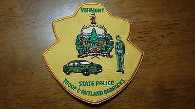 Rare Vermont State Police Troop C Rutland Barracks  State Trooper Highway Patrol