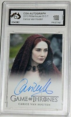 Carice Van Houten Game Of Thrones Auto Card Graded Pristine