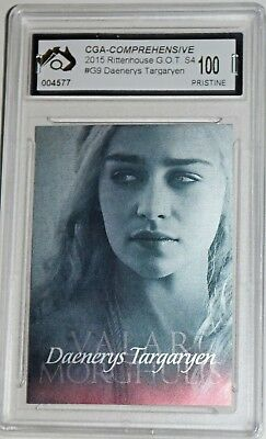 Rare Daenerys Targaryen Game Of Thrones Insert Foil Card Graded Pristine