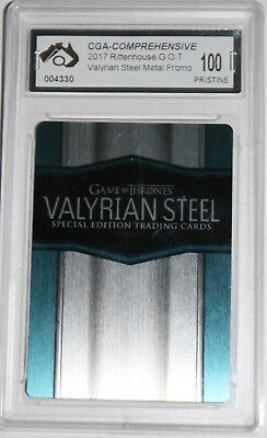 Game Of Thrones Valyrian Steel Metal Promo Card Graded Pristine