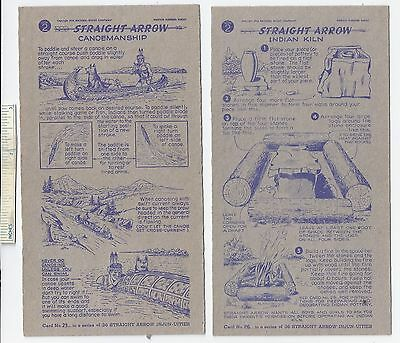 #41 Lot of 6 Diff 1950 NABISCO INJUN-UITY Cards Book #2 Cereal Straight Arrow