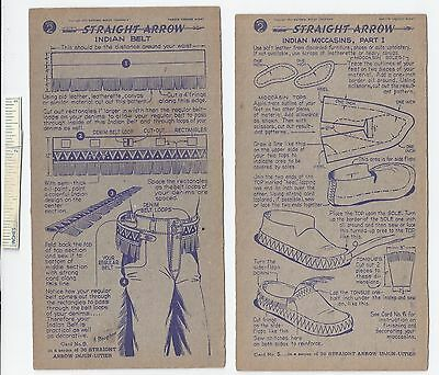 #16 Lot of 6 Diff 1950 NABISCO INJUN-UITY Cards Book #2 Cereal Straight Arrow