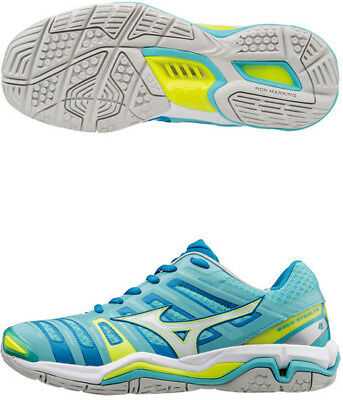 Mizuno Wave Stealth 4 Ladies Netball Shoes - Blue