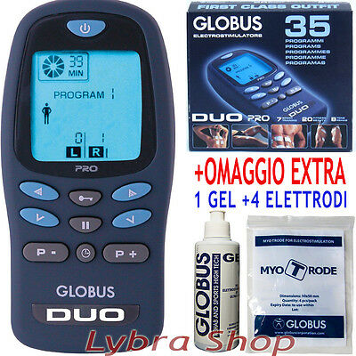 Globus DUO PRO electrical stimulator 2 channels with battery Sport Fitness Tens