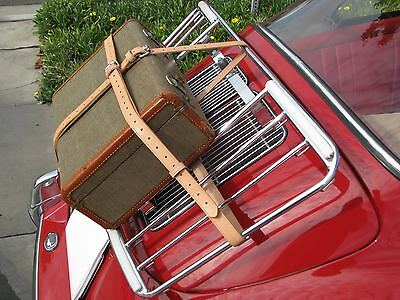 Vintage PORSCHE 356 Leitz/Lietz Trunk Rack Leather Luggage Brn Straps Hand Made