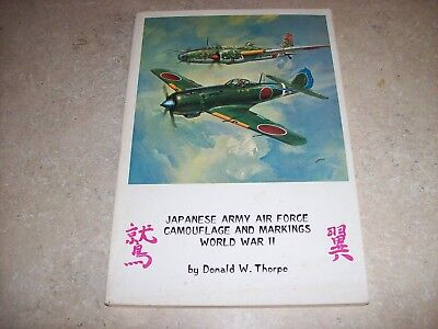 Aero Publishers Japanese Army Air Force Camouflage And Markings WW II Thorpe