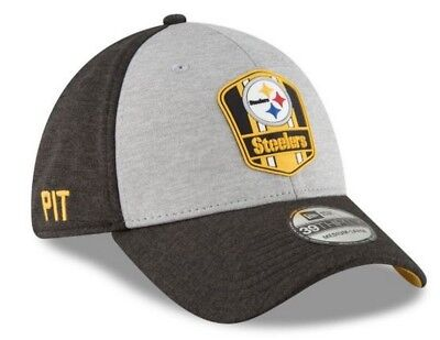 babb23e22 New Era 2018 39Thirty NFL Pittsburgh Steelers Sideline Road Hat Cap 11763325