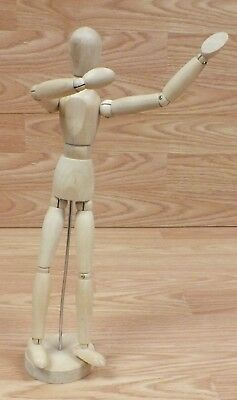 Ikea Unfinished Wood Articulated Poseable Gestalta Model Mannequin on Stand