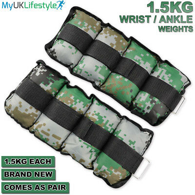 Wrist Ankle Weight Set Fitness Exercise Training Gym Running Adjustable Straps