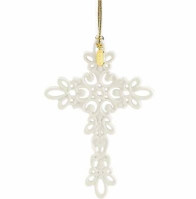 Lenox 2018 Snow Fantasies Cross Ornament