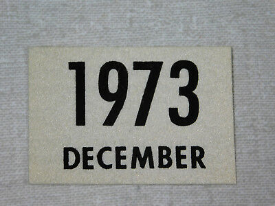 1973 Delaware passenger car license plate sticker