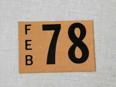 1978 Delaware passenger car license plate sticker
