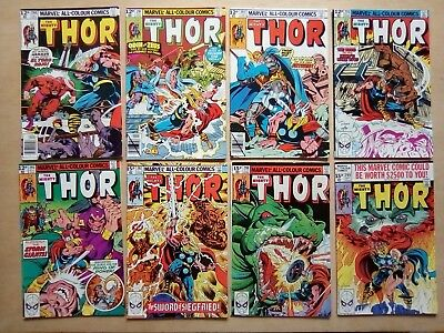 8 ISSUES THOR #290.291,292,293,295,297.298,299 MARVEL COMICS 1979/80 1st PRINTS