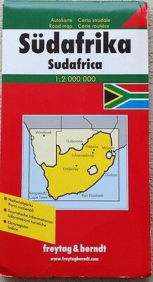 Map of South Africa, by Freytag & Berndt Large with Cover 2007 Rare
