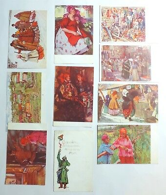 Early 1900's Russia Art Postcard Lot OTKPBITOE ПИСBMO Vtg Antique Russian