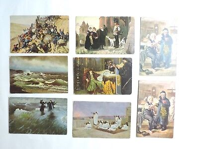 Early 1900's Russia Art Postcard Lot Granbergs Aktiebolag Vtg Antique Russian