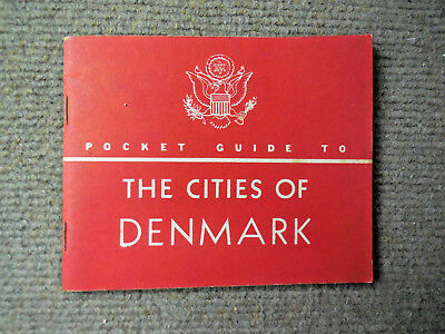 Vintage 1944 WW II US Army Pocket Guide To The Cities Of Denmark
