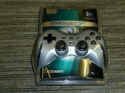 f8062bba25d PLAYSTATION 3 PS3 LOGITECH CHILLSTREAM CONTROLLER NEW! Game Pad USB Fans  Silver
