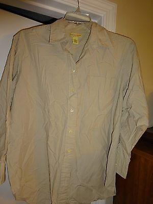 LIMITED CHINOS Tan Size Medium Ladies Womans Button Front Top Blouse Cotton