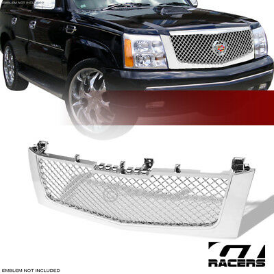 For 2002-2006 Cadillac Escalade Chrome Mesh Front Hood Bumper Grill Grille Guard
