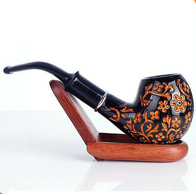 Wooden Smoking Pipe Classic Tobacco Cigarettes Cigar Pipes Durable Men's Fashion
