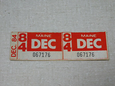 1984 Maine passenger car license plate sticker pair