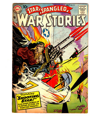 STAR SPANGLED WAR STORIES #71 in FN/VF condition 1958 DC Golden Age WAR comic