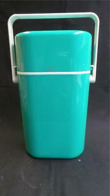 RETRO DECOR GREEN TWO BOTTLE DRINK COOLER WITH ICE BRICK AUSTRALIA 1980's