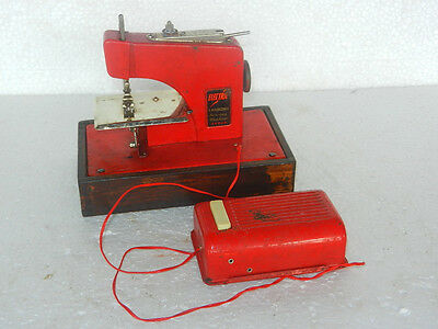 Rare Vintage Battery 'Electric Frankonia ' Sewing Machine Litho Tin Toy, Japan