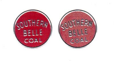 "A Seta Coal Mine Scatter Tags "" Southern Belle Coal "" 1 Used In Coal & 1 Unused!"