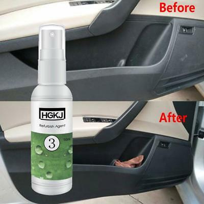 20/50ml Car Refurbished Agent Trim Leather Plastic Care Maintenance Cleaner