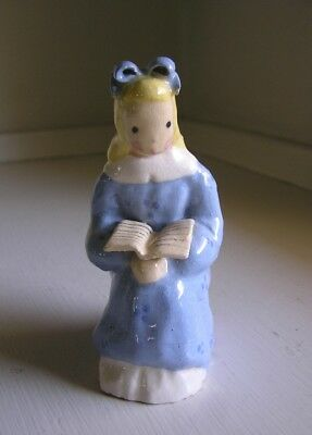 Jean Manley California Pottery Figurine ~ Girl Reading a Book