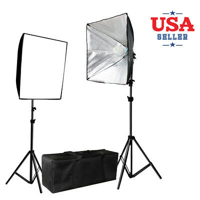 """25""""x20"""" Photography Soft Boxes Tripod Continuous 85W Lighting Kit w/Carrying Bag"""
