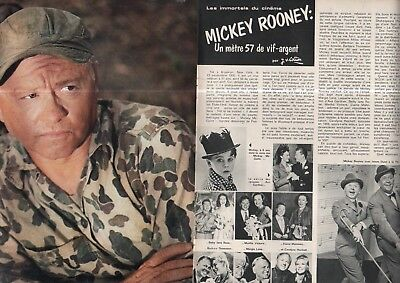 Coupure de presse Clipping 1971 Mickey Rooney   (4 pages)