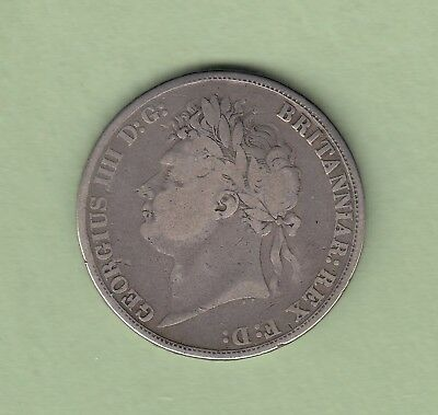 1821 Great Britain One Crown Silver Coin - George IV