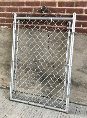 Older Light Weight Cast Aluminum Chain Link Fence Gate (#8)