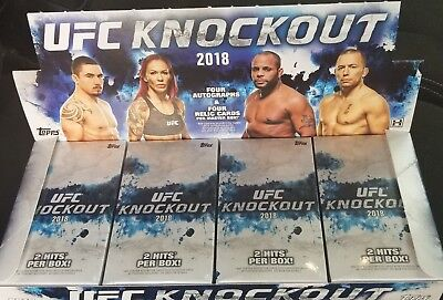 2018 Topps UFC Knockout Sealed Mini Box 2 HITS RONDA ROUSEY CONOR MCGREGOR