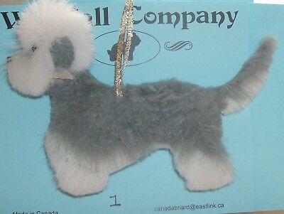 Pepper Dandie Dinmont Terrier Dog Soft Plush Christmas Ornament #1 by WC
